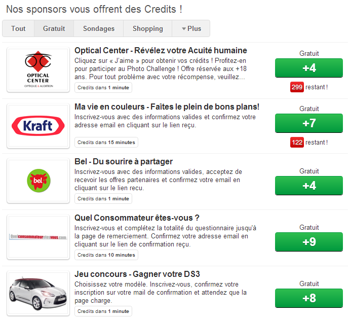 Crédits Urban Rivals via Sponsor Pay