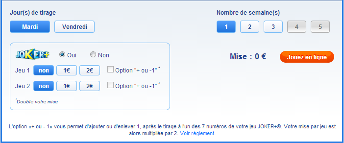 Euromillions options en ligne