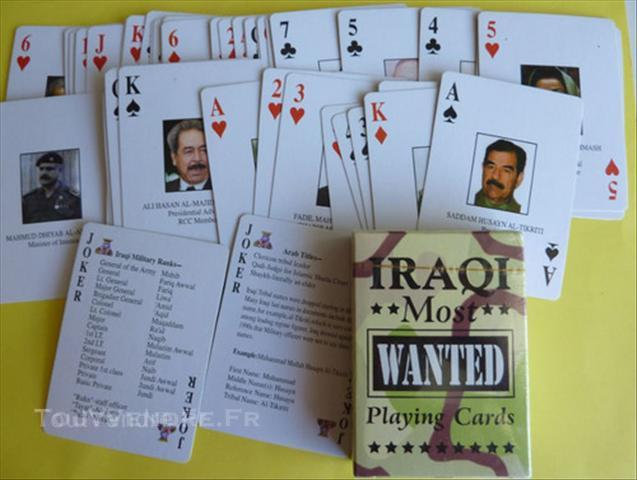 jeu de carte irak most wanted