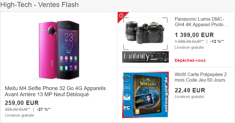 Ventes flash ebay